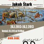 Plakát na výstavu biggest writer ever  Jakuba Štarka